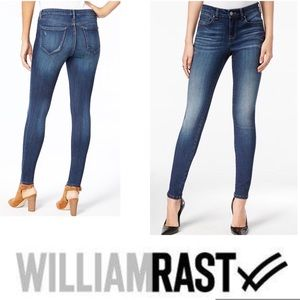 WILLIAM RAST Jeans High Rise Skinny Raw Edge  NWT